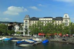 Zurich - Limmat embankment Royalty Free Stock Photo