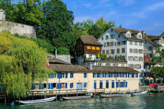 Zurich, the Limmat river Royalty Free Stock Photo