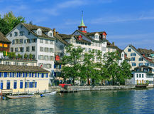 Zurich, the Limmat river Royalty Free Stock Images