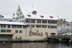 Zurich and Limmat river Stock Photo