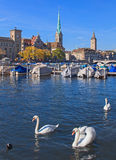 Zurich, the Limmat river Royalty Free Stock Photography