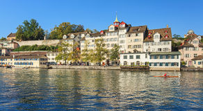 Zurich, the Limmat river Stock Photography