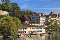 Zurich, the Limmat river Stock Photo