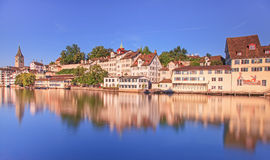 Zurich, the Limmat river Royalty Free Stock Image