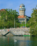 Zurich, the Limmat river Stock Image