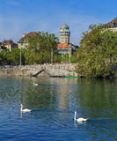 Zurich, the Limmat river Royalty Free Stock Photos