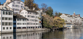 Zurich, Limmat Royalty Free Stock Photo