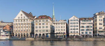 Zurich, the Limmatquai quay Royalty Free Stock Photos