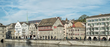 Zurich, the Limmatquai quay Stock Photos