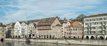Zurich, the Limmatquai quay Stock Photos