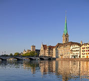 Zurich, Madame Minster Cathedral photographie stock