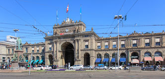 Zurich Main train station building facade Royalty Free Stock Image