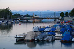 Zurich morning view Royalty Free Stock Images