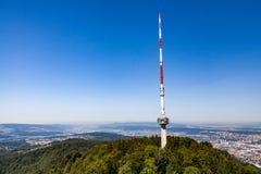 Zurich mountain Uetliberg, Switzerland. Uetliberg Tower in Zurich, Switzerland stock photography