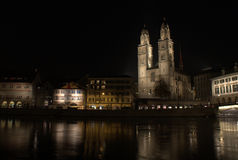 Zurich by night Stock Photography