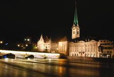 Zurich by night Royalty Free Stock Image