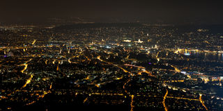 Zurich at night Royalty Free Stock Photography