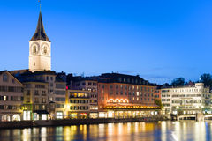 Zurich by night Royalty Free Stock Images