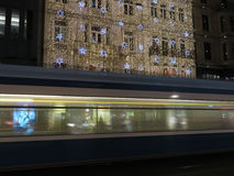 Zurich by night in Christmas time Stock Image