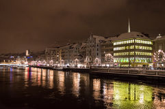 Zurich at night Stock Images