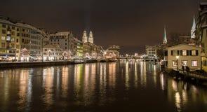 Zurich by night Stock Photos