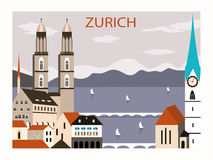 Zurich old city. Royalty Free Stock Photo