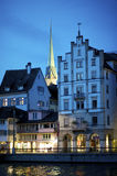 Zurich sightseeing old town at night Royalty Free Stock Photography