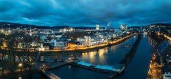 Zurich på panorama- gryning Royaltyfria Bilder