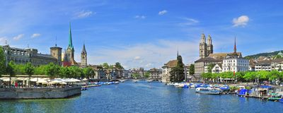 Zurich panorama royalty free stock images