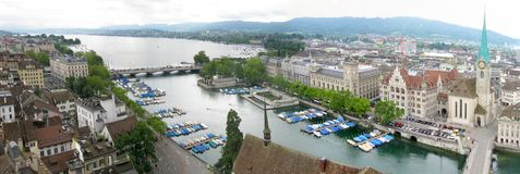 Zurich Panorama stock images