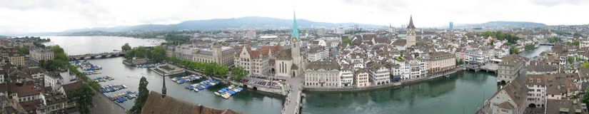 Zurich panorama arkivfoton