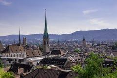 Zurich panorama Arkivbild