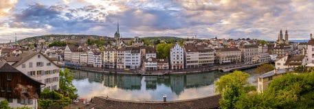 Zurich panorama zdjęcie stock. Obraz złożonej z przyciąganie - 94209890