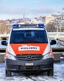 Zurich Police Van Stock Photos
