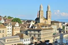 Zurich przy zmierzchem Obrazy Royalty Free