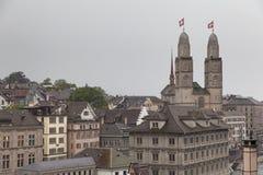 Zurich on a rainy day Stock Photo