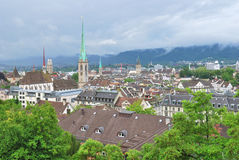 Zurich in a rainy  day Stock Images
