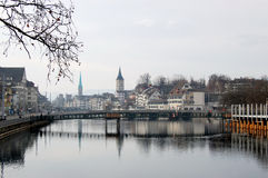 Zurich river Royalty Free Stock Image
