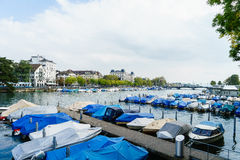Zurich and river Limmat, Switzerland Stock Image