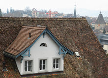 Zurich rooftop Royalty Free Stock Images