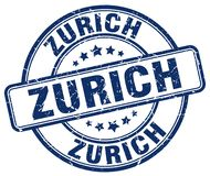 Zurich stamp Stock Image