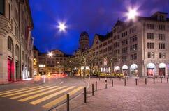 Zurich Schweiz Arkivfoto