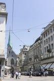 Zurich Schweiz Fraumunster kyrka Royaltyfria Bilder