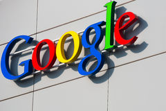 ZURICH SCHWEIZ, Google Korporation Recept Royaltyfri Foto