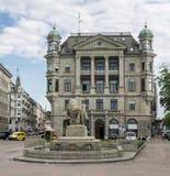 Zurich Schweiz historisk byggnad Royaltyfria Bilder