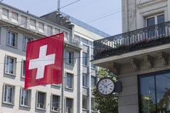 Zurich Schweiz historisk byggnad Royaltyfri Bild