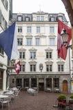 Zurich Schweiz kafé Conditorei Royaltyfri Foto