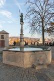 ZURICH SCHWEIZ - OKTOBER 28, 2015: Höstsikt av den gamla staden av staden av Zurich Royaltyfria Bilder