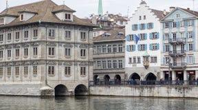 Zurich Schwitzerland, 03 April 2016: Zurich stad, Schweiz Fotografering för Bildbyråer