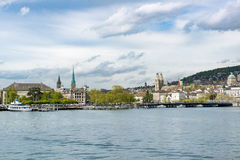 Zurich seen from Lake Zurich Stock Photo